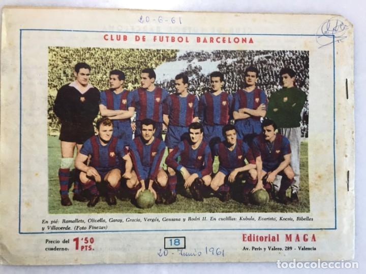 Tebeos: Ojos Enigmáticos, Contraportada Club De Fútbol Barcelona 1961 - Foto 2 - 174229789