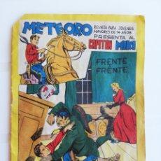 Tebeos: METEORO, N° 16, FRENTE A FRENTE, PRESENTA AL CAPITAN MIKI. Lote 174508654