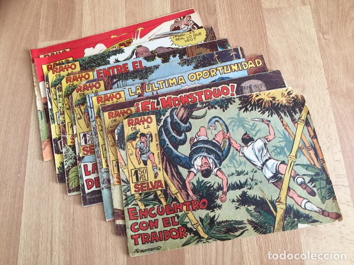 LOTE 8 RAYO DE LA SELVA (NUMEROS 2, 11, 14, 15, 18, 20, 81, 82) - MAGA, ORIGINAL - GCH (Tebeos y Comics - Maga - Rayo de la Selva)