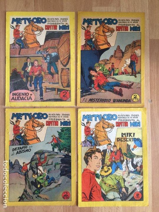 LOTE 4 NUMEROS METEORO PRESENTA CAPITAN MIKI (18, 27, 28, 30), MAGA, ORIGINAL - GCH (Tebeos y Comics - Maga - Otros)