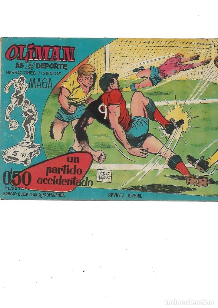 Tebeos: Oliman As del Deporte Colección Completa son 105 tebeos + Almanaque de cromos de la seleción de 1964 - Foto 5 - 175199449