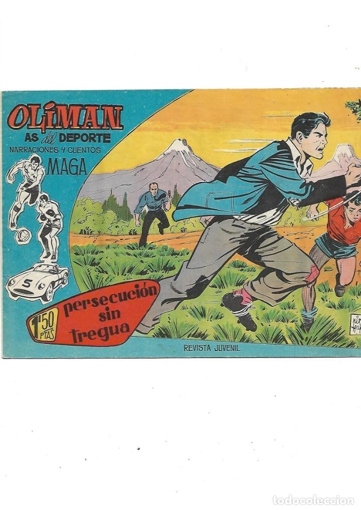 Tebeos: Oliman As del Deporte Colección Completa son 105 tebeos + Almanaque de cromos de la seleción de 1964 - Foto 7 - 175199449