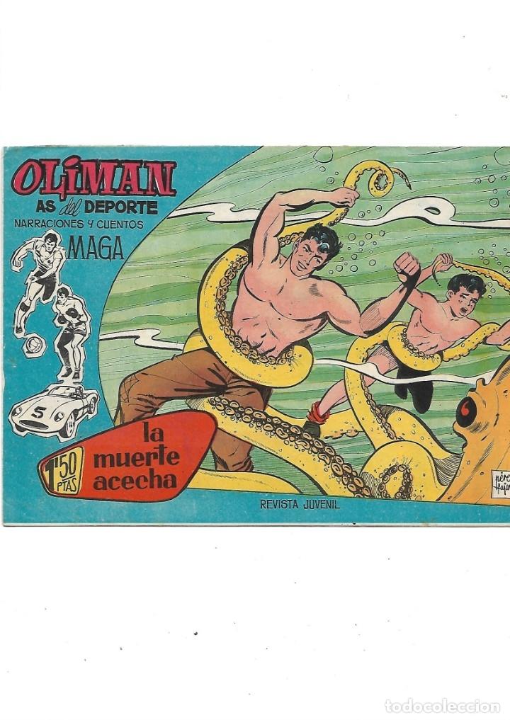 Tebeos: Oliman As del Deporte Colección Completa son 105 tebeos + Almanaque de cromos de la seleción de 1964 - Foto 9 - 175199449
