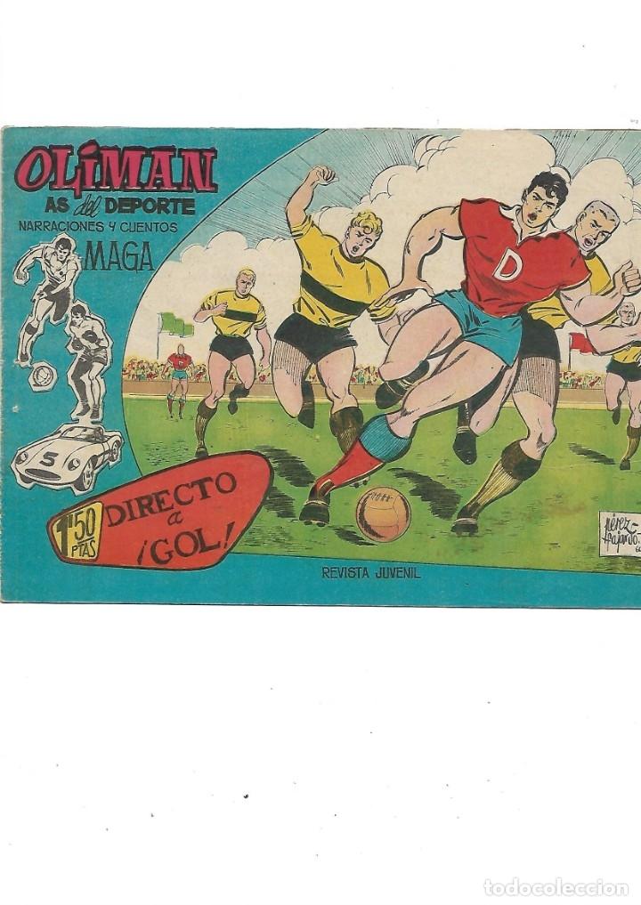 Tebeos: Oliman As del Deporte Colección Completa son 105 tebeos + Almanaque de cromos de la seleción de 1964 - Foto 11 - 175199449