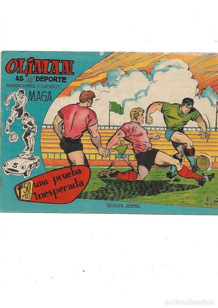 Tebeos: Oliman As del Deporte Colección Completa son 105 tebeos + Almanaque de cromos de la seleción de 1964 - Foto 19 - 175199449