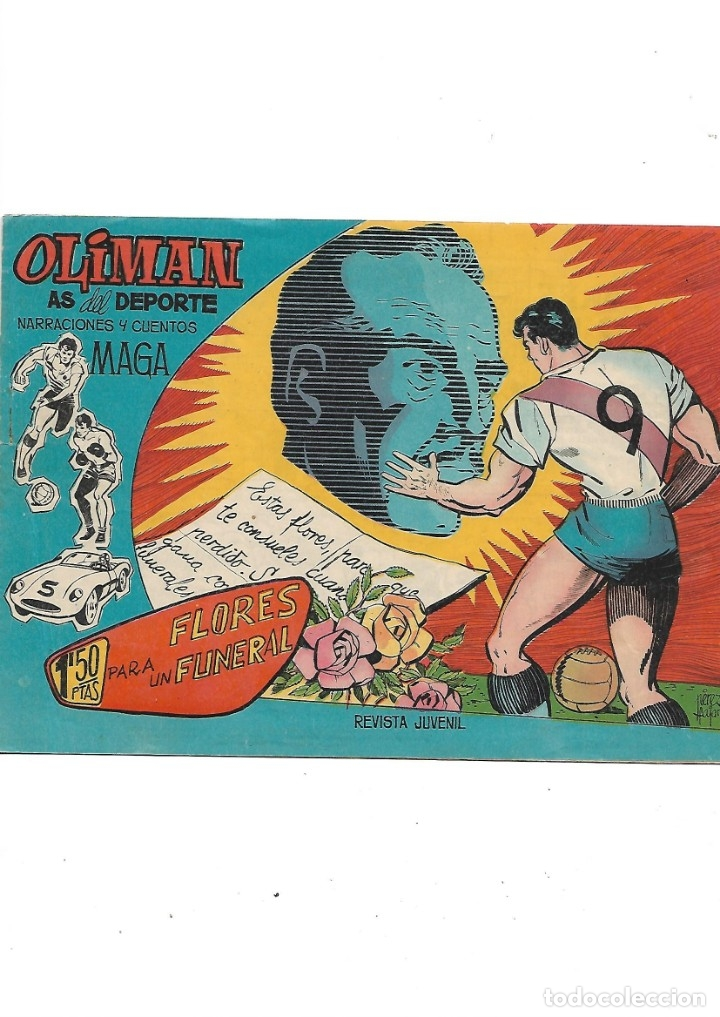 Tebeos: Oliman As del Deporte Colección Completa son 105 tebeos + Almanaque de cromos de la seleción de 1964 - Foto 21 - 175199449