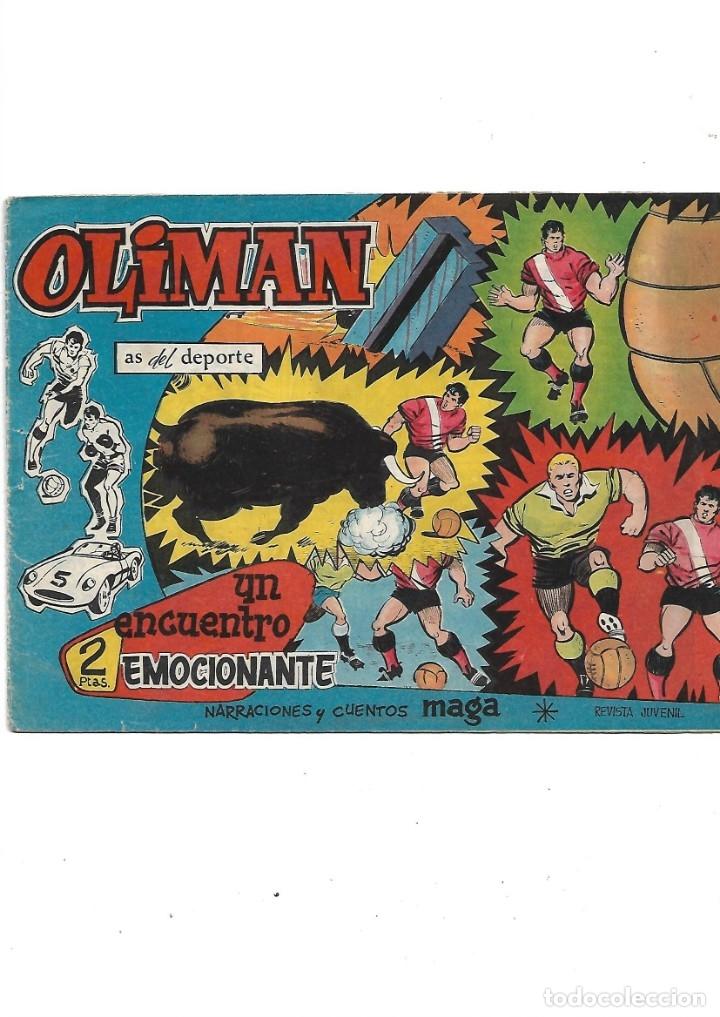 Tebeos: Oliman As del Deporte Colección Completa son 105 tebeos + Almanaque de cromos de la seleción de 1964 - Foto 27 - 175199449