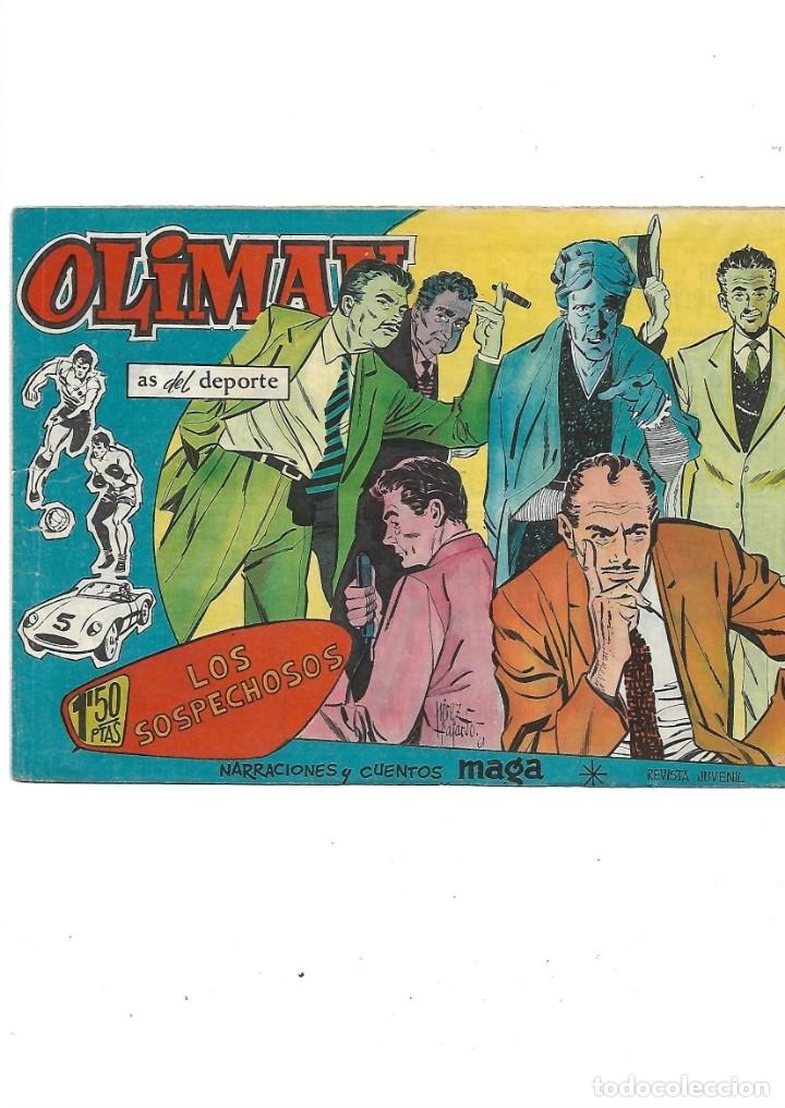 Tebeos: Oliman As del Deporte Colección Completa son 105 tebeos + Almanaque de cromos de la seleción de 1964 - Foto 31 - 175199449