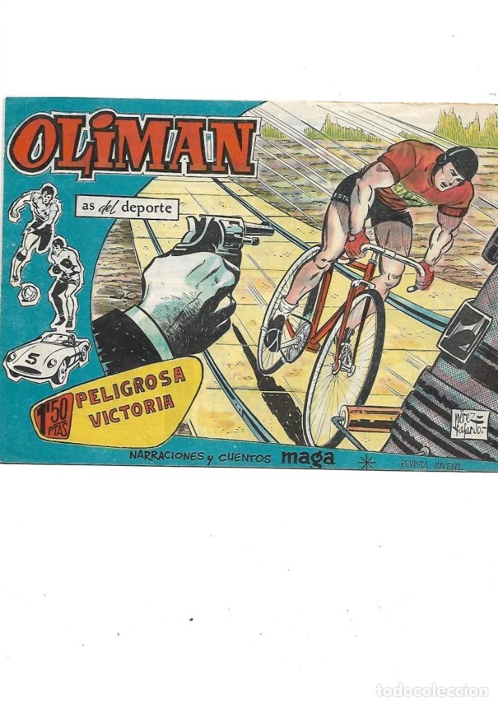 Tebeos: Oliman As del Deporte Colección Completa son 105 tebeos + Almanaque de cromos de la seleción de 1964 - Foto 33 - 175199449