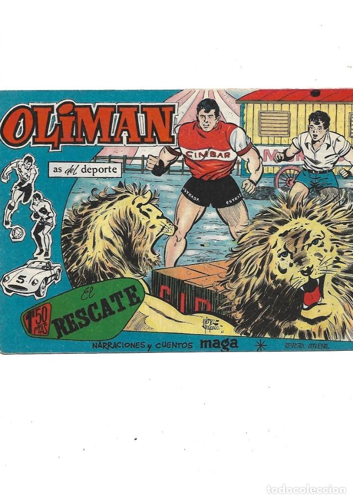 Tebeos: Oliman As del Deporte Colección Completa son 105 tebeos + Almanaque de cromos de la seleción de 1964 - Foto 35 - 175199449