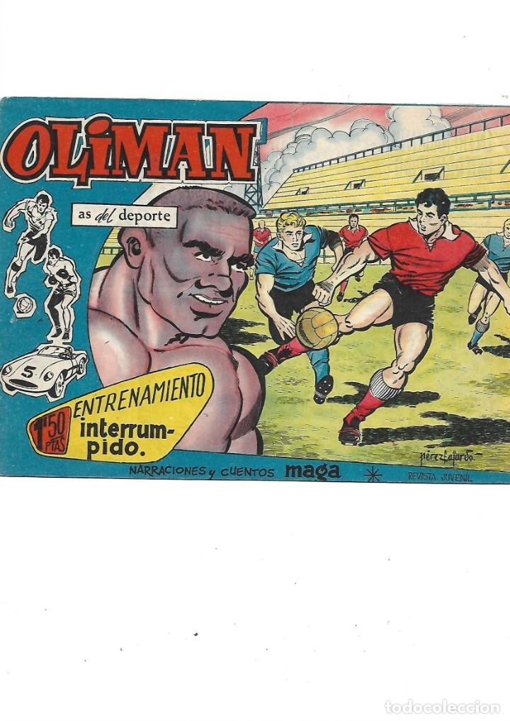 Tebeos: Oliman As del Deporte Colección Completa son 105 tebeos + Almanaque de cromos de la seleción de 1964 - Foto 37 - 175199449