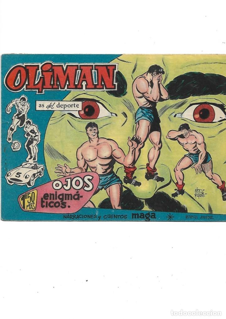 Tebeos: Oliman As del Deporte Colección Completa son 105 tebeos + Almanaque de cromos de la seleción de 1964 - Foto 39 - 175199449