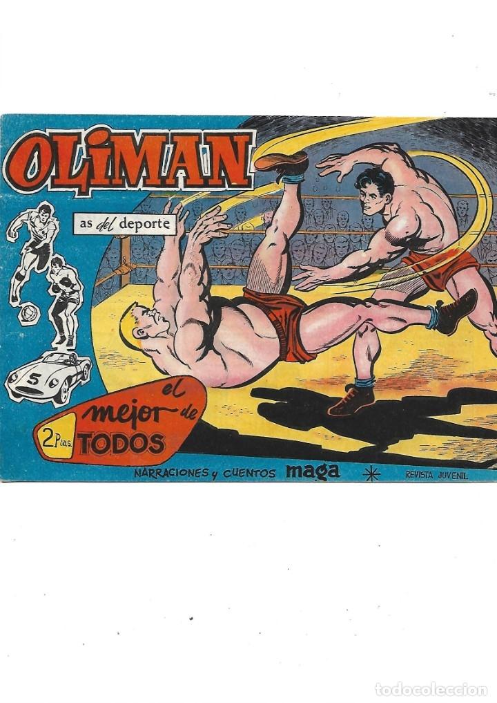 Tebeos: Oliman As del Deporte Colección Completa son 105 tebeos + Almanaque de cromos de la seleción de 1964 - Foto 43 - 175199449