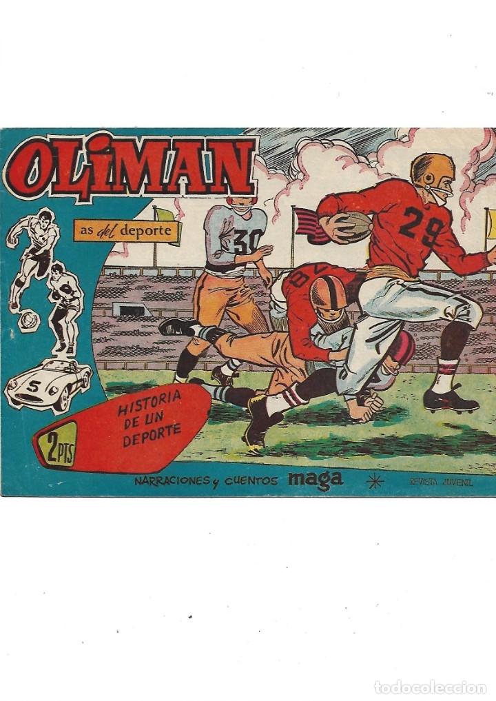 Tebeos: Oliman As del Deporte Colección Completa son 105 tebeos + Almanaque de cromos de la seleción de 1964 - Foto 49 - 175199449