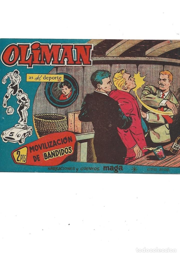 Tebeos: Oliman As del Deporte Colección Completa son 105 tebeos + Almanaque de cromos de la seleción de 1964 - Foto 51 - 175199449