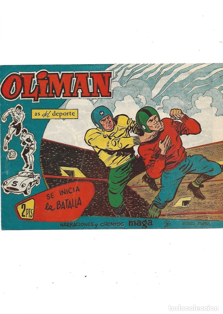 Tebeos: Oliman As del Deporte Colección Completa son 105 tebeos + Almanaque de cromos de la seleción de 1964 - Foto 55 - 175199449