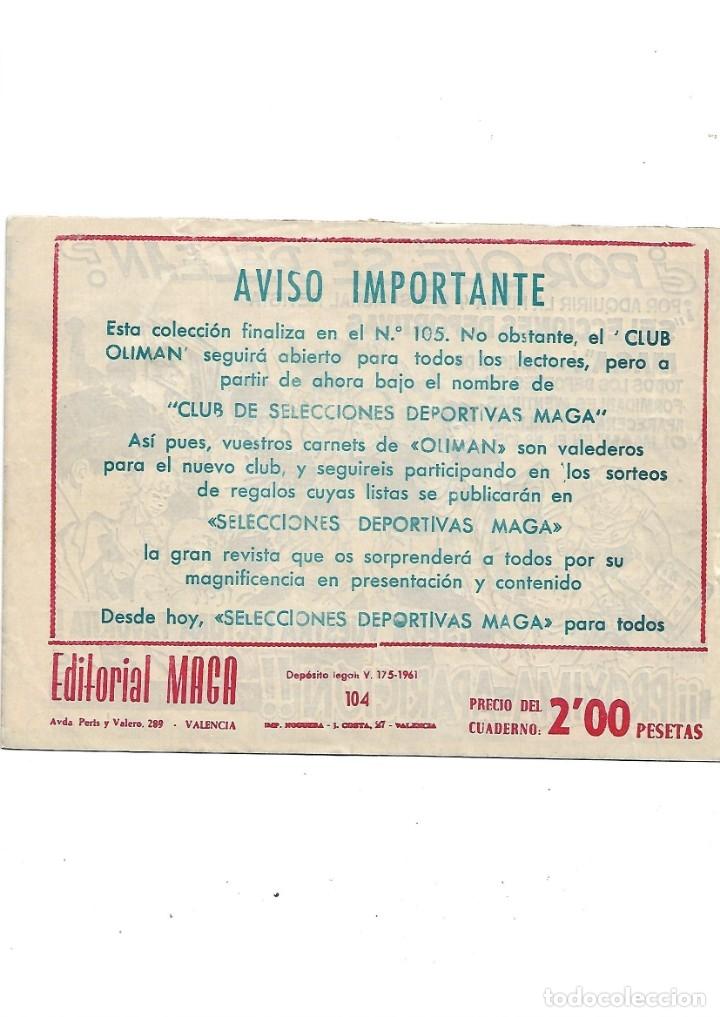 Tebeos: Oliman As del Deporte Colección Completa son 105 tebeos + Almanaque de cromos de la seleción de 1964 - Foto 56 - 175199449