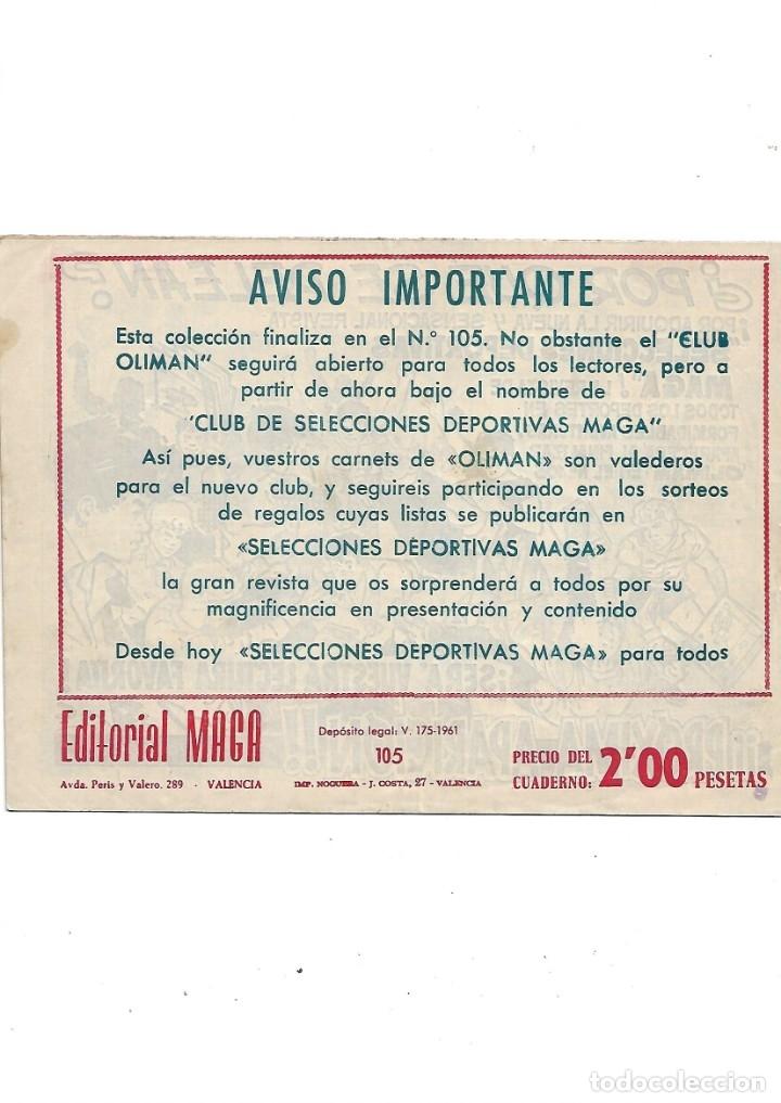 Tebeos: Oliman As del Deporte Colección Completa son 105 tebeos + Almanaque de cromos de la seleción de 1964 - Foto 58 - 175199449