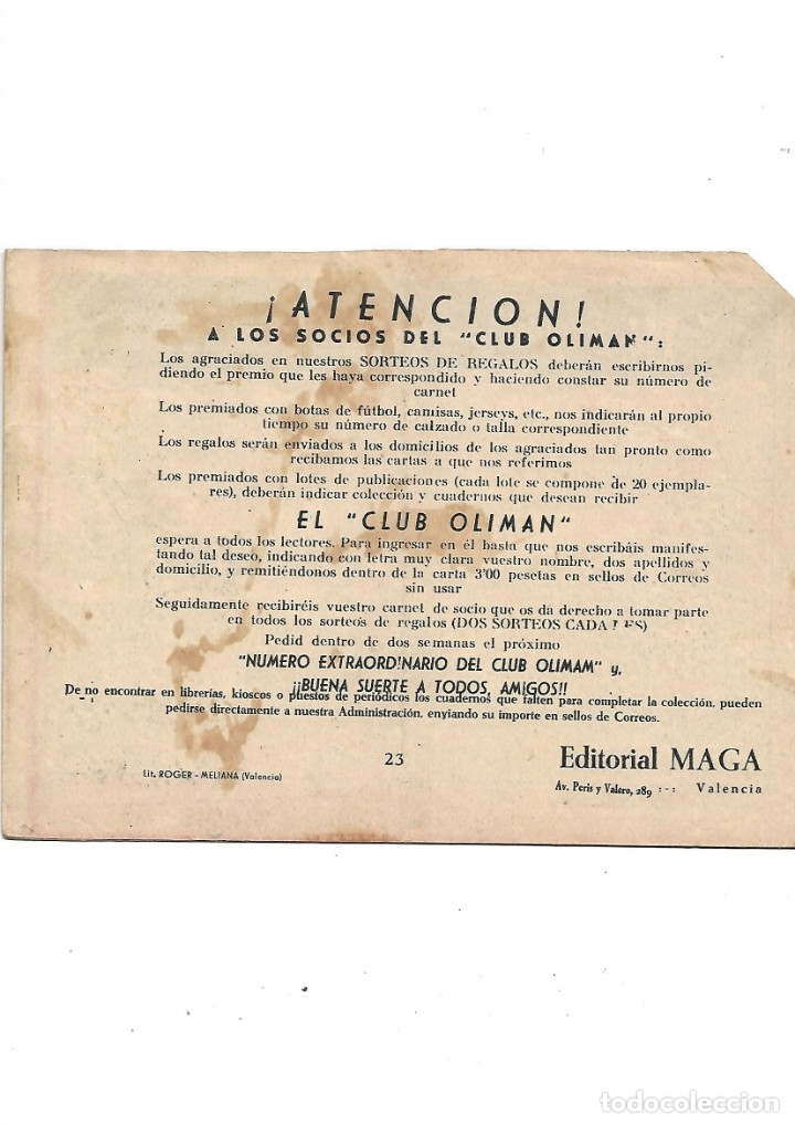 Tebeos: Número Extraordinario del Club Oliman Año 1963 Colección Completa son 24 Tebeos Originales nuevos - Foto 6 - 175218439