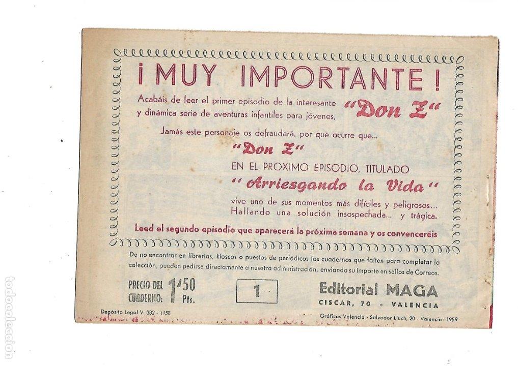 Tebeos: Don Z Año 1959 Colección Completa son 90 Tebeos Originales nuevos + Almanaques Unidos 1961. - Foto 4 - 175256648
