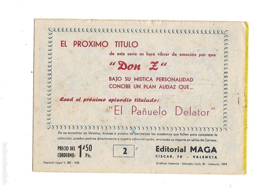 Tebeos: Don Z Año 1959 Colección Completa son 90 Tebeos Originales nuevos + Almanaques Unidos 1961. - Foto 6 - 175256648