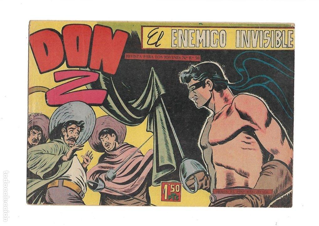 Tebeos: Don Z Año 1959 Colección Completa son 90 Tebeos Originales nuevos + Almanaques Unidos 1961. - Foto 14 - 175256648