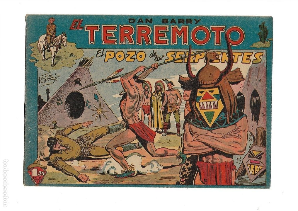 Tebeos: Dan Barry el Terremoto Año 1954 Colección Completa son 76 Tebeos Originales + 3 Almanaques Originale - Foto 13 - 175262120