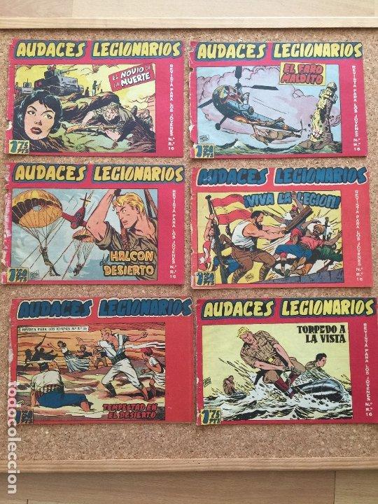 LOTE 6 NUMEROS LOS AUDACES LEGIONARIOS (2,4,5,6,7,8)- MAGA, ORIGINAL - GCH (Tebeos y Comics - Maga - Otros)