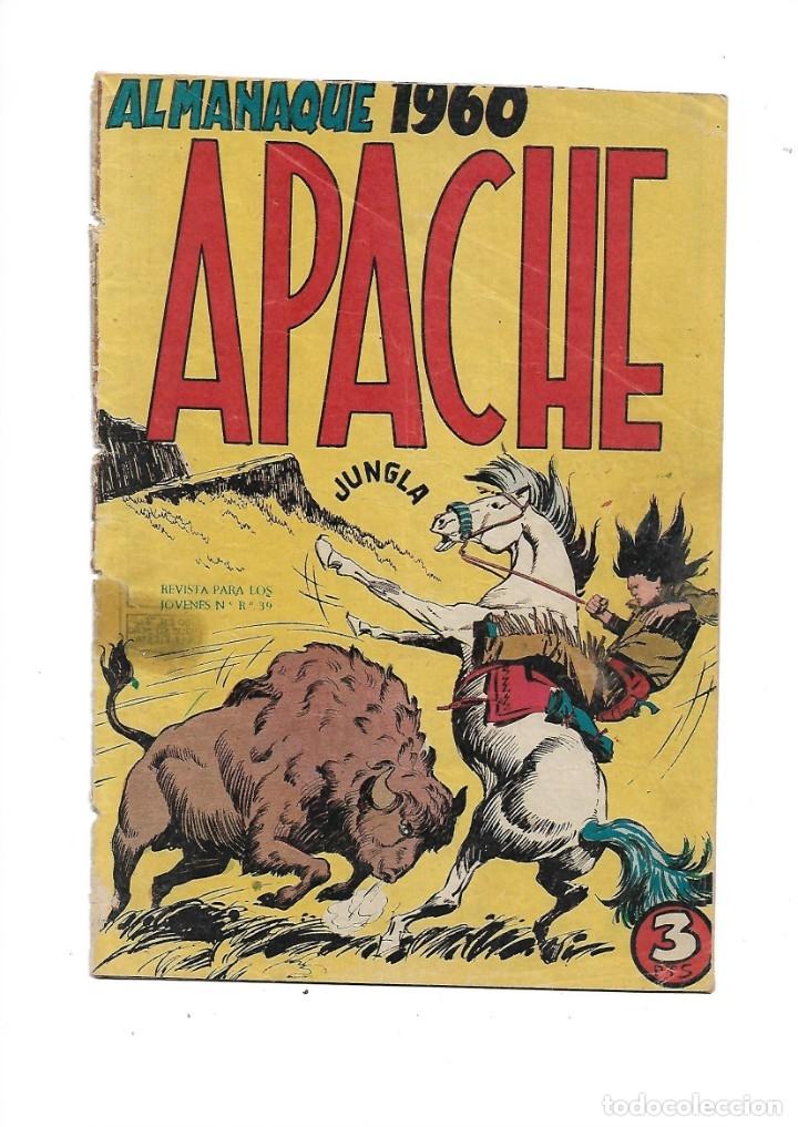 APACHE ALMANAQUE PARA 1960 ES ORIGINAL DIBUJOS DE L. BERMEJO EDITORIAL MAGA. (Tebeos y Comics - Maga - Apache)
