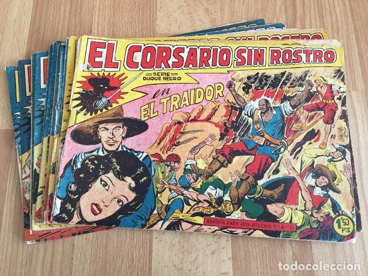 LOTE 15 NUMEROS EL CORSARIO SIN ROSTRO - MAGA, ORIGINAL - NUMEROS EN EL INTERIOR DEL ANUNCIO - GCH (Tebeos y Comics - Maga - Otros)
