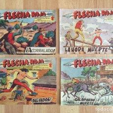 Tebeos: LOTE 4 NUMEROS FLECHA ROJA (15, 19, 33, 54) - MAGA, ORIGINAL - GCH. Lote 176901987