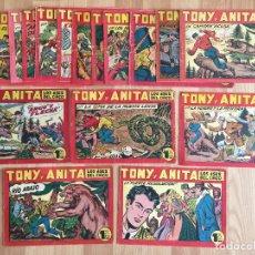 Giornalini: LOTE 19 NUMEROS TONY Y ANITA - MAGA, ORIGINAL - NUMEROS EN EL INTERIOR DEL ANUNCIO - GCH. Lote 177270264