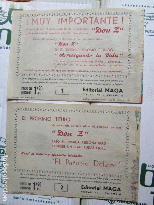 Tebeos: DON Z , 90 ejemplarres , coleccion completa , maga 1959 , original , cada uno en su funda - Foto 9 - 177654960