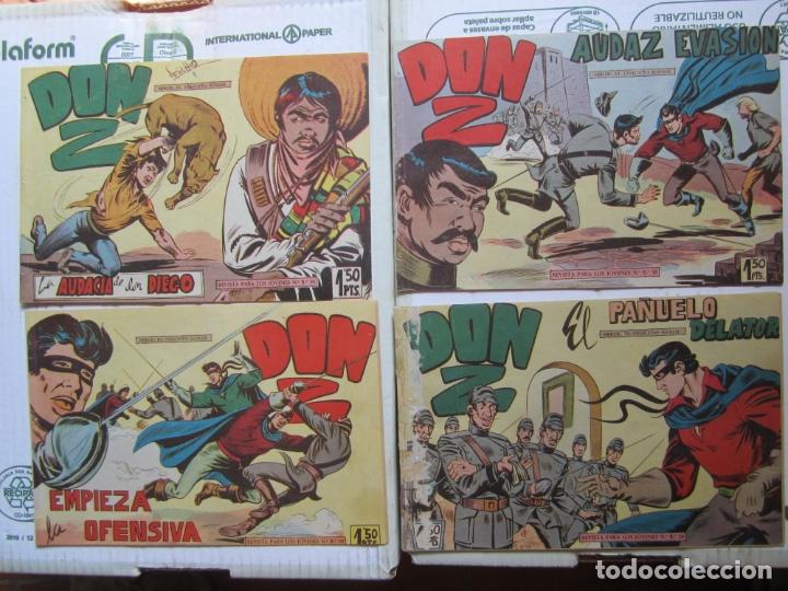 Tebeos: DON Z , 90 ejemplarres , coleccion completa , maga 1959 , original , cada uno en su funda - Foto 10 - 177654960