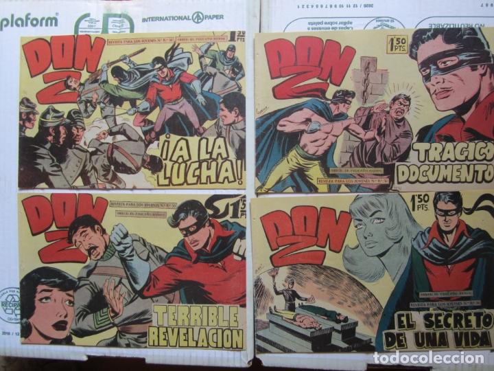 Tebeos: DON Z , 90 ejemplarres , coleccion completa , maga 1959 , original , cada uno en su funda - Foto 12 - 177654960