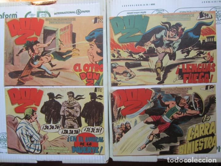 Tebeos: DON Z , 90 ejemplarres , coleccion completa , maga 1959 , original , cada uno en su funda - Foto 17 - 177654960