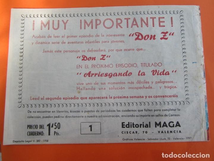 Tebeos: DON Z , 90 ejemplarres , coleccion completa , maga 1959 , original , cada uno en su funda - Foto 33 - 177654960