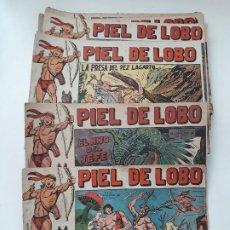 Tebeos: LOTE: PIEL DE LOBO. NUMEROS DEL 1 AL 38. CORRELATIVOS. ORIGINALES. EDITORIAL MAGA. 1959. Lote 178069107