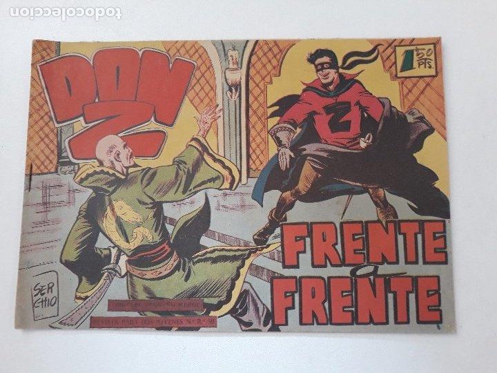 DON Z Nº 19.- FRENTE A FRENTE. ORIGINAL. EDITORIAL MAGA. 1959. (Tebeos y Comics - Maga - Don Z)