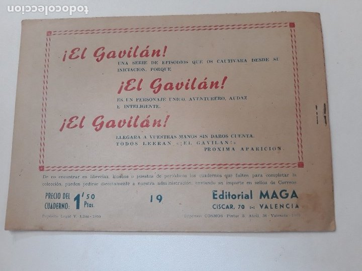 Tebeos: DON Z nº 19.- FRENTE A FRENTE. ORIGINAL. Editorial MAGA. 1959. - Foto 2 - 178069695