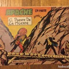 Tebeos: APACHE, 2ª PARTE - Nº 10 - MAGA, ORIGINAL - GCH. Lote 178085548