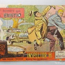 Tebeos: COMIC - INSPECTOR H - Nº 7 , EL HOMBRE QUE NO EXISTIÓ - EDICIONES MAGA , AÑO 1961 - ORIGINAL .. L396. Lote 178334428