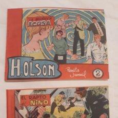 Tebeos: COMICS H.OLSON N°3 EL RAPTO DEL NIÑO 1963 Y N°6 LA MUÑECA ACUSA 1964. Lote 181500602