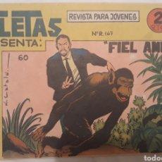 Tebeos: COMIC ATLETAS N°60 FIEL AMIGO 1964. Lote 181507492