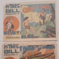 Tebeos: COMICS LOS TRES BILL N°31 FUEGO EN LA HACIENDA Y N°44 CARA A CARA 1964. Lote 181515060