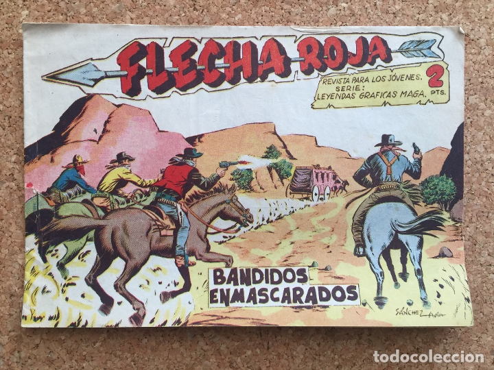 FLECHA ROJA Nº 52 - MAGA, ORIGINAL - GCH (Tebeos y Comics - Maga - Flecha Roja)