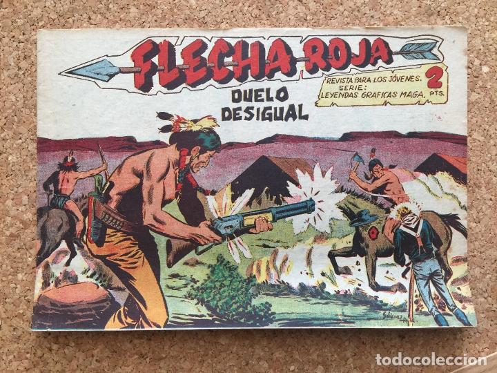 FLECHA ROJA Nº 62 - MAGA, ORIGINAL - GCH (Tebeos y Comics - Maga - Flecha Roja)