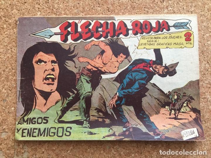 FLECHA ROJA Nº 64 - MAGA, ORIGINAL - GCH (Tebeos y Comics - Maga - Flecha Roja)
