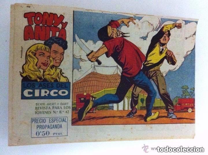 TONI Y ANITA - LOTE 58 EJEMPLARES SEGUIDOS (DEL 1 AL 58) - 2ª ÉPOCA - MUY BIEN CONSERVADOS (Tebeos y Comics - Maga - Tony y Anita)