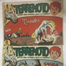Livros de Banda Desenhada: TERREMOTO - NUMEROS 3 Y 19 - MAGA - REVISTA PARA JOVENES - SERIE LA CUADRILLA. Lote 182951022